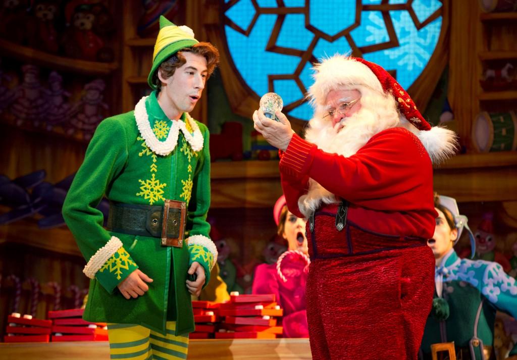 Buddy the elf and Santa