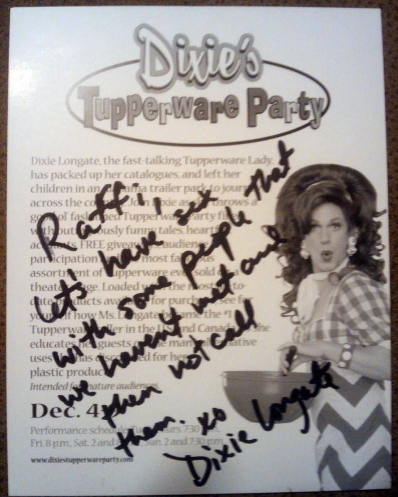 Dixie autograph