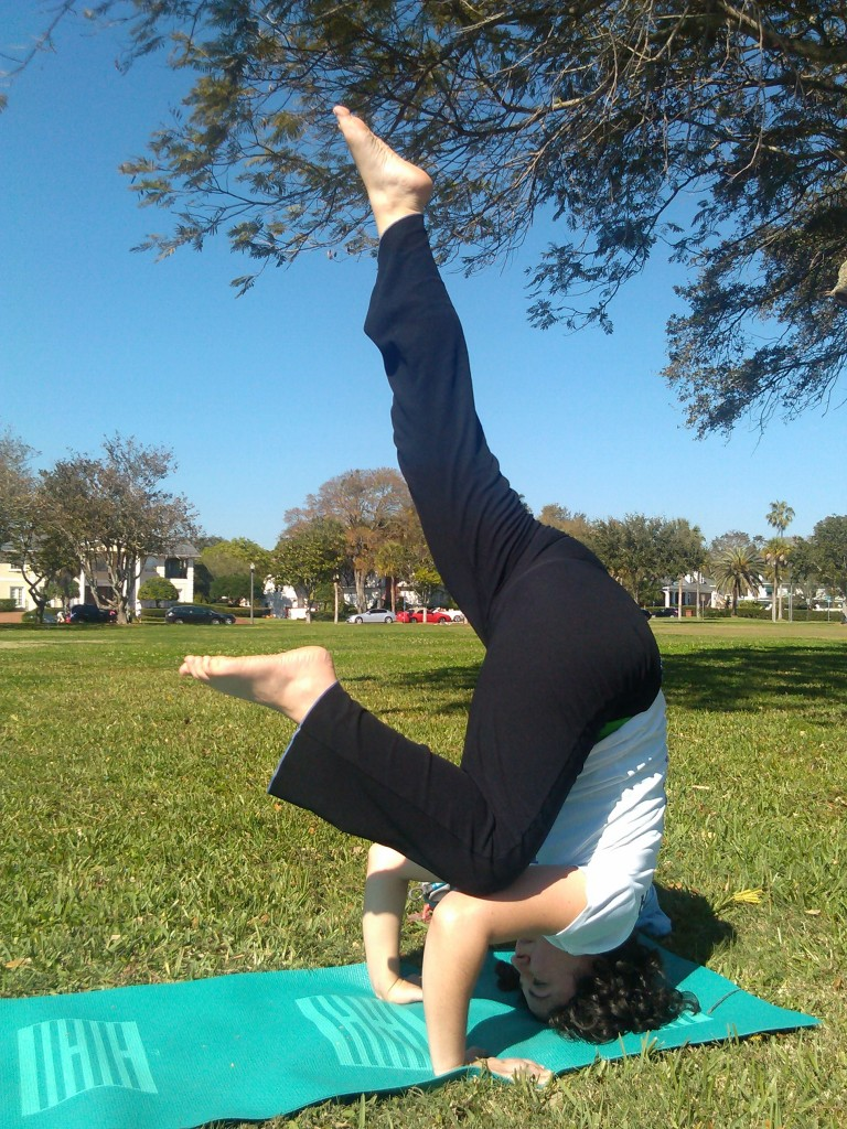 me, playing with my headstand