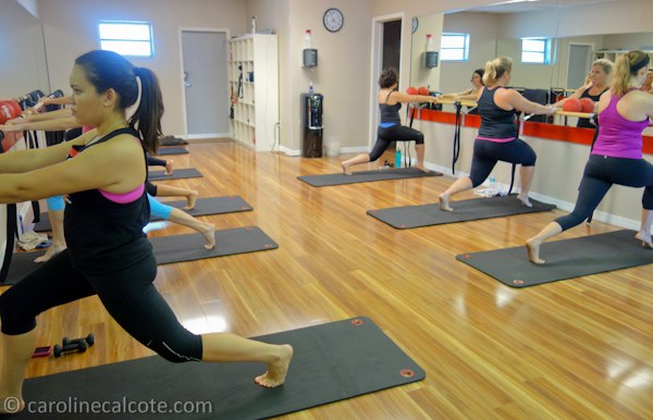 Lunges, that's me in the back right!