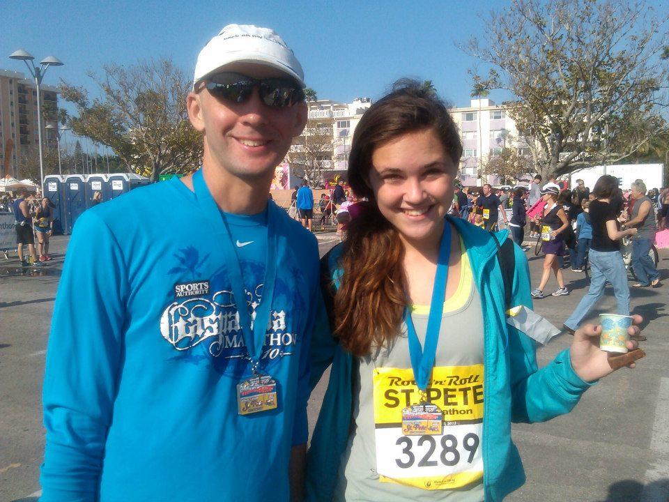 Father daughter finish line fun
