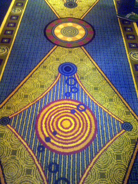 Hotel carpet reminded me of the imaginarium