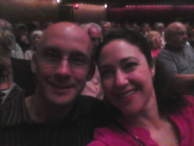 Brian and I waiting for the show to start