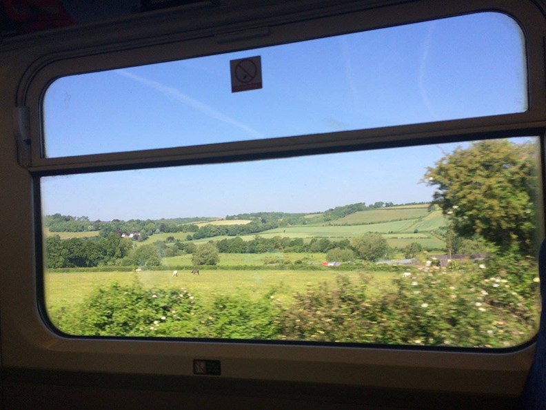 On the train from London to Kent you can read, nap, chat, and enjoy views like these!