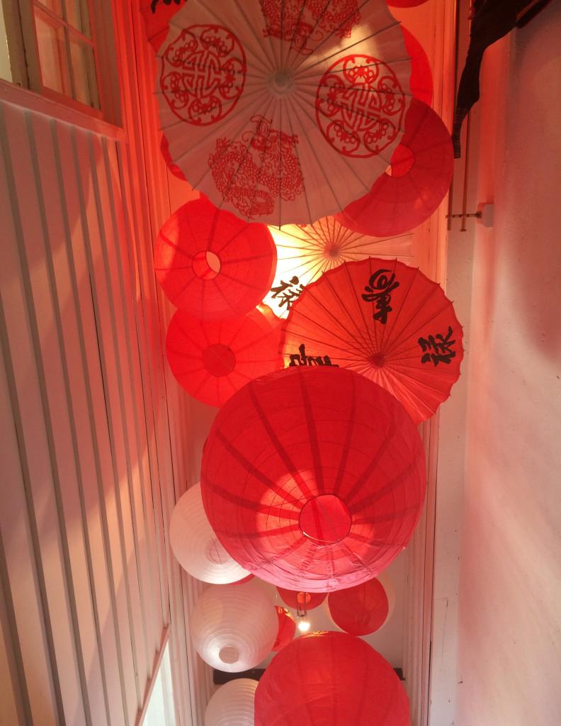paper chinese parasols umbrellas