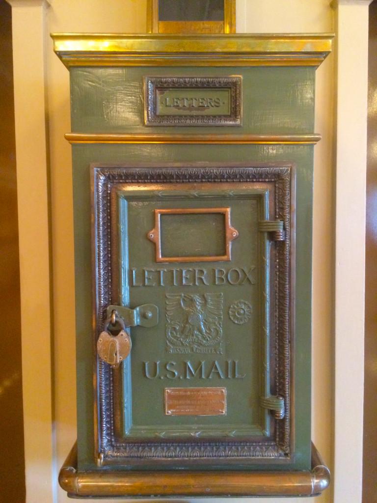 vintage letterbox mail