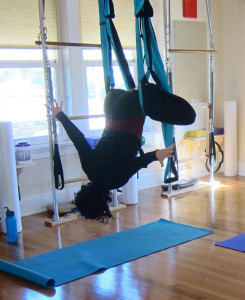 Have you tried aerial yoga?