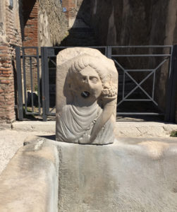 pompeii ruins, water fountain in italy