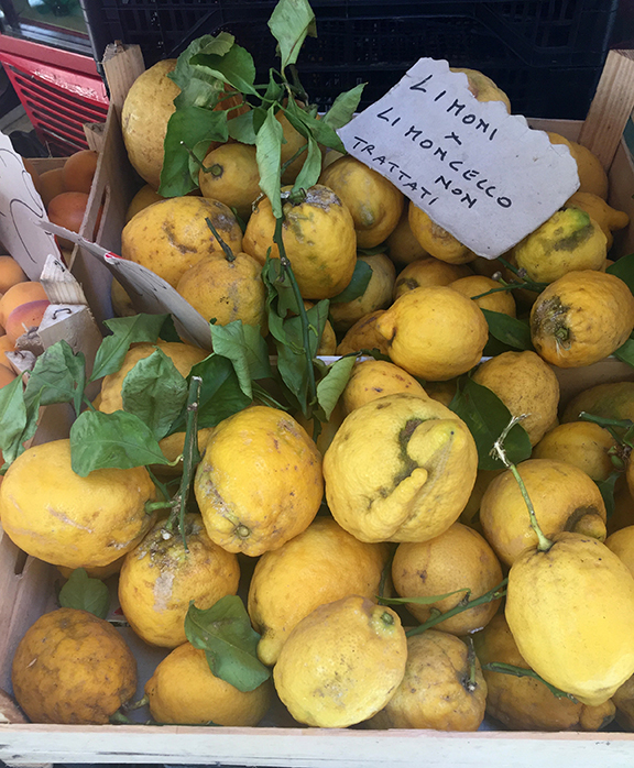 lemons for sale in Sorrento, italy
