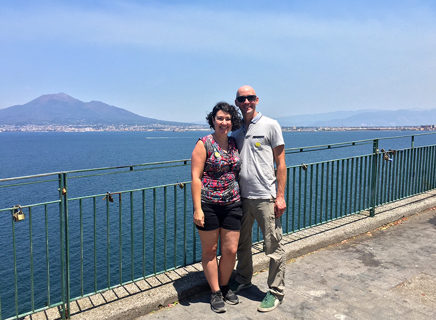 vesuvius italy travel blogger couple from florida