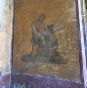 pompeii fresco, art in italy