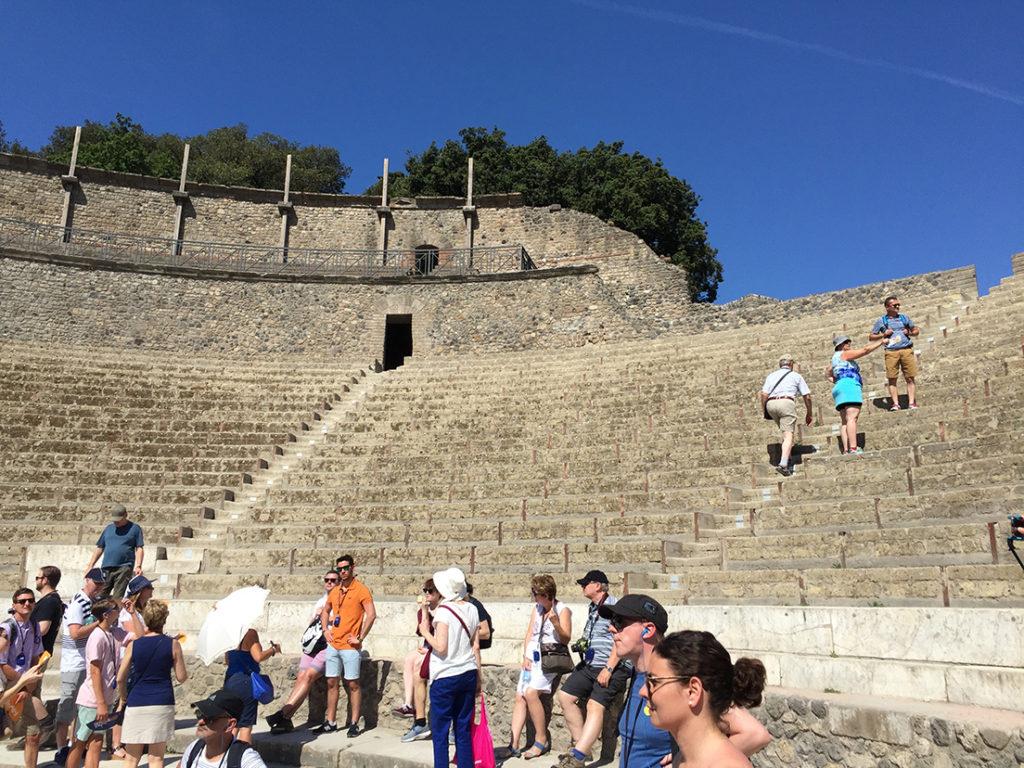 Pompeii Amphitheatre ruins italy