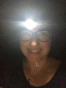 raffi in a headlamp