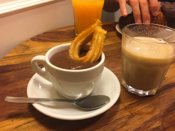Churros and Chocolate in Barcelona, spain